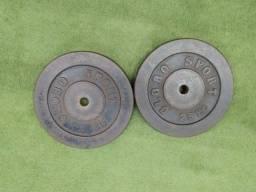 Anilhas 25kg pintadas (valor $10 o kg)