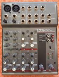 Mesa de Som Phonic - 6 Canais