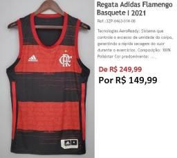 Regata adidas Basquete 1 CR Flamengo 2021 R$ 99,99