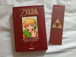 The legend of Zelda - Oracle of Seasons e Oracle of Ages com marca texto - Mangá
