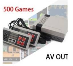 Super Classic Edition Compacto - 2 Controles Conexão Vga Usb 500 Jogos na Memória