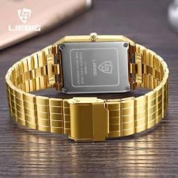 PROMOÇÃO Relógio Golden Quadrado