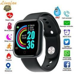 BARATOOO!!!Relógio inteligente Smart Y68/D20  monitor cardíaco