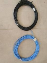 Título do anúncio: Fio 10Mm 30metros Azul e 30metros Preto