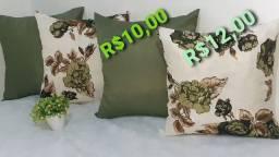 Capas para ALMOFADAS R$10,00 LISAS/capas ESTAMPADAS R$12,00