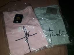 Camiseta g e m bermuda gg e shorts jeans feminino