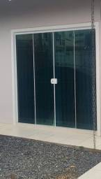 Vendo porta janela vidro temperado verde
