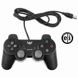 Entrega Grátis - Controle Joystick Com Fio Jogos Computador Playstation 3
