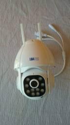 Câmera segurança inteligente giratória e com alarme ,microfone e auto falante 30% desc