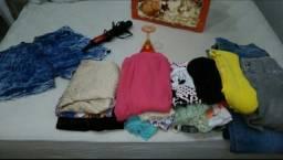 Lote de roupas + chapinha