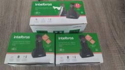 Telefone Intelbras sem fio + ramal + frete + 12x s/j