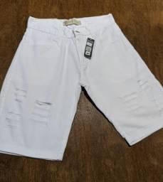 Bermudas jeans Masculinas modelos lisas e destroyed Tamanhos 38 a 42