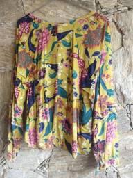Camisa Opção colorida, manga longa, fresquinha P/M