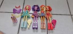 Título do anúncio: Bonecas Equestria Girls - Pacote 4 bonecas!