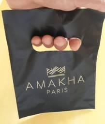 100 Sacolas Plástico Personalizadas Amakha Paris 15x20cm