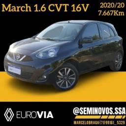 Título do anúncio: March SL 1.6 CVT 2020/20 - Marcelo Braga