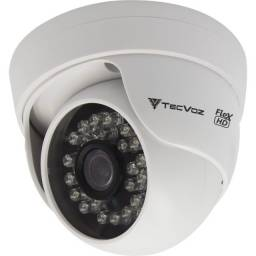 Câmera Tecvoz Dome Flex HD Cdm - 128P Alta Definição (1.0MP   720p   2.8mm   Plast)