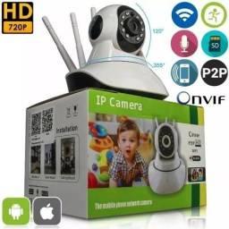 Câmera IP 3 Antenas Wifi Visão Noturna Infravermelho (Aceito Cartão)