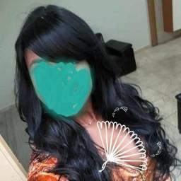 Lace wing peruca preta