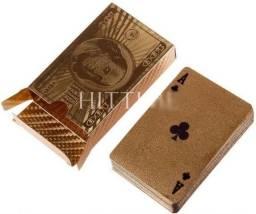 Baralho Dourado Folheado a ouro 24k Coleção US Dollar Americano