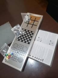 Kit 3 jogos,xadrez,jogo da velha.