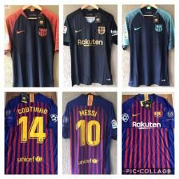 Camisas Originais Barcelona Jogador - Aceito Cartão 7dcd05fef686c