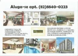Apt de 1 quarto super luxo sala de estudo academia piscina próximo a UNIT e Shopping