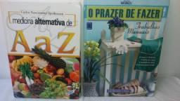 Medicina Alternativa de A a Z e O prazer de Fazer / Natureza e Paisagismo (Lote 02 Livros)