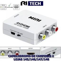 Conversor Rca Para Hdmi Av2 P/ Hdmi Upscaler 1080p