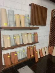 Telhas cerâmicas coloniais, esmaltadas, termoacusticas, onduline, e de fibrocimento