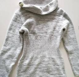Vestido de inverno branco (lã)