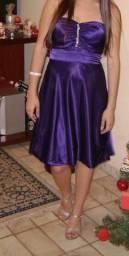 Vestido festa balonê roxo