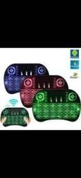 Mini teclado keyboard wireless luminoso ótimo designer