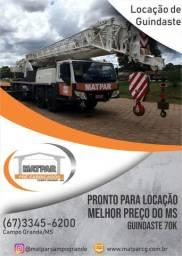 Locação de Guindaste XCMG 70K - Campo Grande - MS