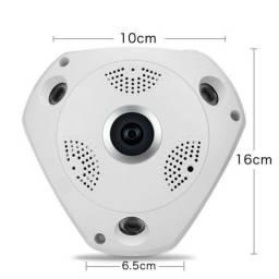 Câmera Ip Panorâmica de Teto 3d Wi-fi 360 Vr Cam