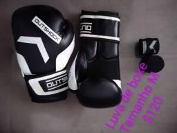 Caneleira de luta + moderdor e luva de boxe