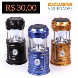 Lanterna Led Lampião Recarregável + Entrega Grátis