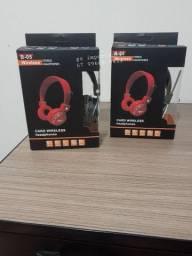 Fone de ouvido Bluetooth sem fio SD FM