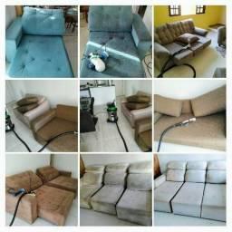 WF Higienização. Sofá cadeira colchão tapete estofados
