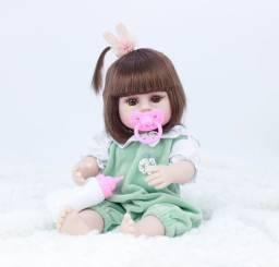 Boneca Reborn Toda Em Silicone Faz Xixi 38cm