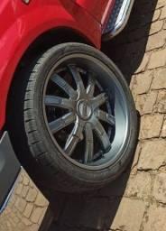 Rodas aro 24 com pneus pra F250