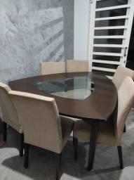 Mesa seis cadeiras R$ 850,00