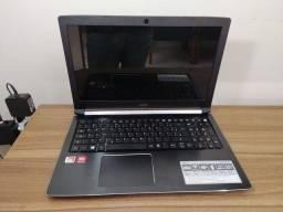 Notebook Acer Aspire A515 AMD A12-9720p 2.70Ghz 8GB com placa de vídeo e SSD 120GB