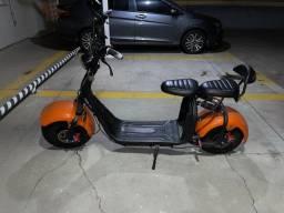 Moto elétrica Scooter, Bateria de 21 Ah, 2 Lugares