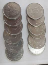 12 moedas de 10 cruzados 1988
