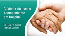 Cuidador de Idosos e Acompanhante em Hospitais.