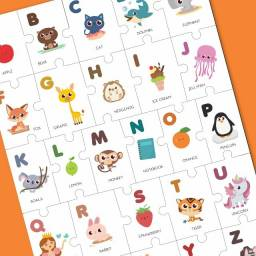 Quebra-Cabeça Alfabeto em Inglês
