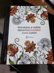 Livro mandalas e outros desenhos budistas para colorir