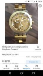 Relógio Swatch (original)irony diaphane dourado