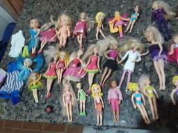 Lote de mini bonecas, Polly Barbie e etc